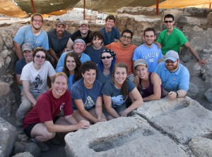 Magness and students during the 2015 dig. Photo by Jim Haberman.