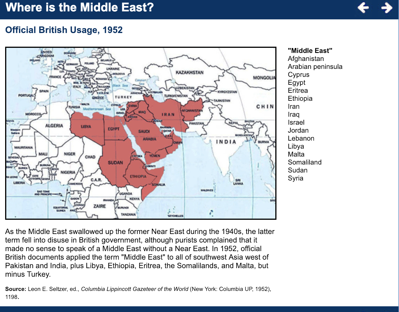 Where Is the Middle East? | Center for Middle East and ...