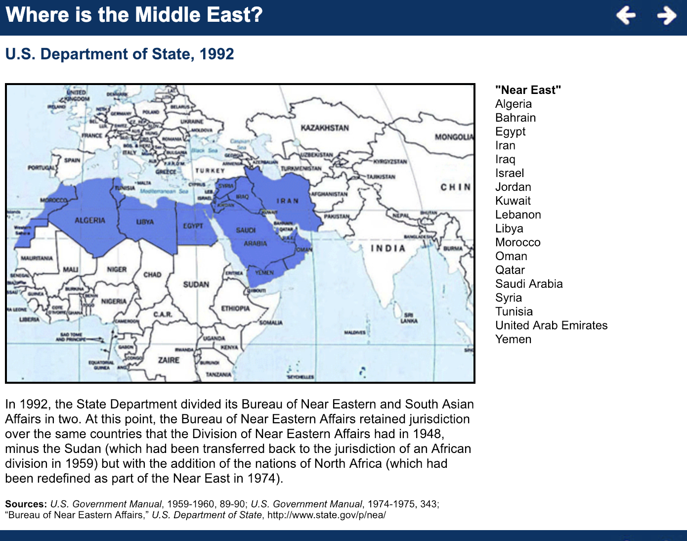 Where Is the Middle East? | Center for Middle East and Islamic Studies